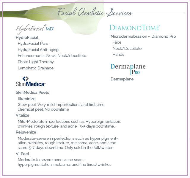 Cova MedSpa Services Menu