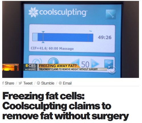CoolSculpting on CBS News Cova MedSpa The Complete Women's Practice